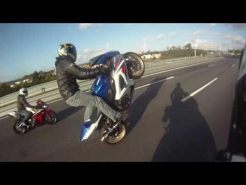 GIXXER 1000 K8 Long Stand Up Wheelies (GO PRO HD)