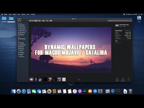 Динамические обои MacOS Mojave & Catalina / Dinamic Wallpapers For MacOS & Hackintosh