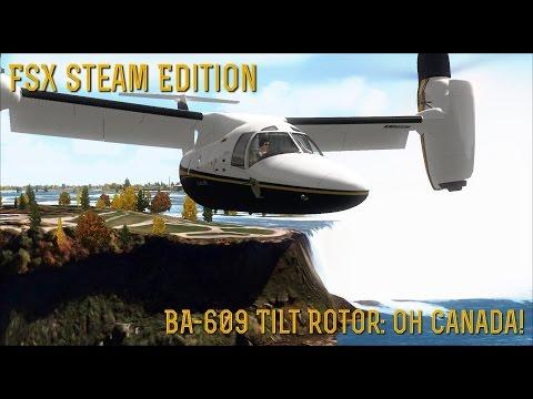 [FSX SE] BA-609 Tiltrotor: Oh Canada!
