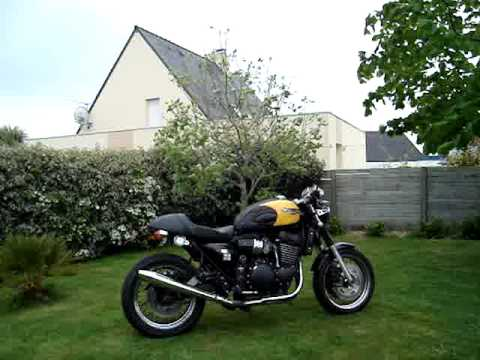 triumph thunderbird sport cafe racer - youtube