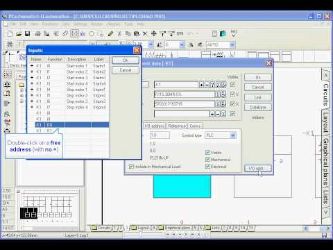 Electrical CAD Basic PLC references PCSCHEMATIC Automation YouTube