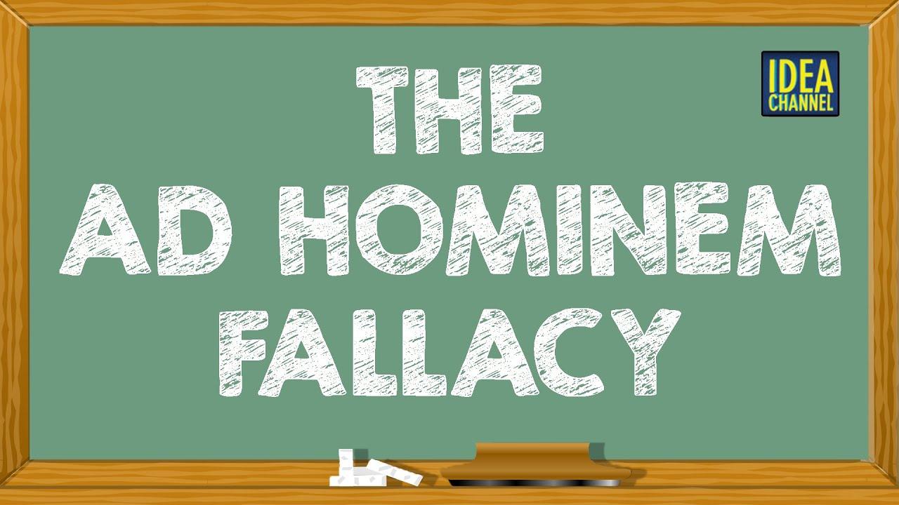 The Ad Hominem Fallacy Idea Channel Pbs Digital Studios Youtube