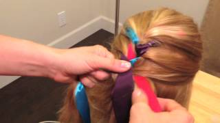 This is a three strand braid with ribbon for beginners. I'm simply ...