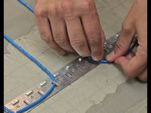 How to install SunTouch WarmWire electric radiant floor