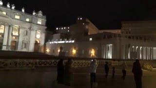 Ватикан. Площадь Святого Петра(Ночное видео с площади Святого Петра в Ватикане., 2016-01-05T13:59:11.000Z)