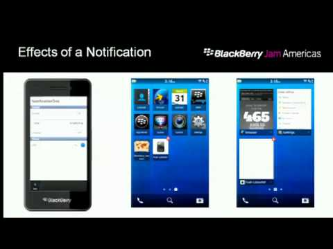 Leveraging BlackBerry Services: Push and Notification Manager