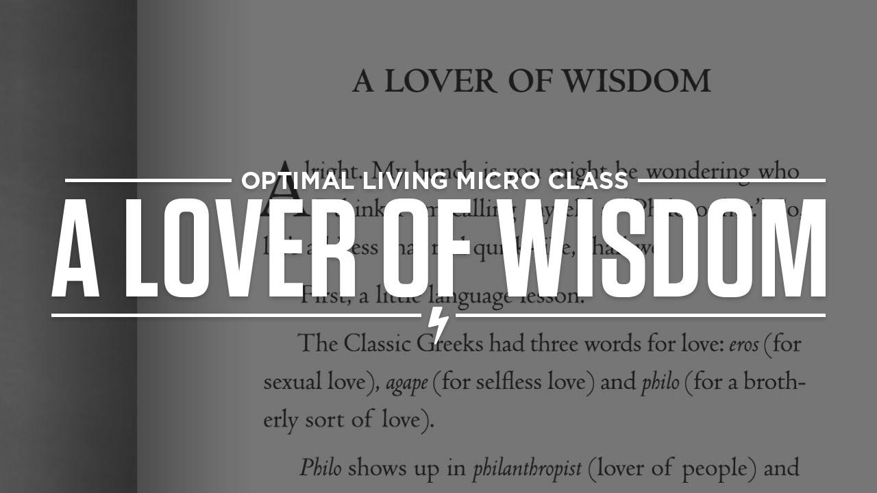 love of wisdom