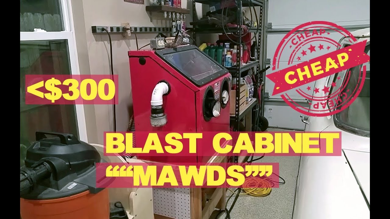 Harbor Freight blast cabinet mods, cleaning carb parts etc