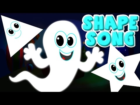 the shapes song  ghost shapes  halloween scary rhymes nursery rhyme kids songs  kids tv S02 EP0177