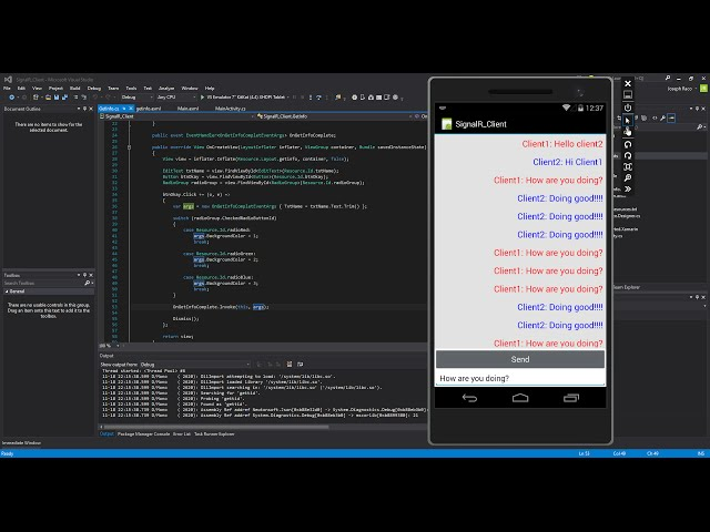 Xamarin Android Tutorial   76   SignalR Chat Client Part 3