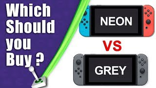NEON or GREY? Which Nintendo Switch color/ colour should you get? - And why I changed my Pre-Order
