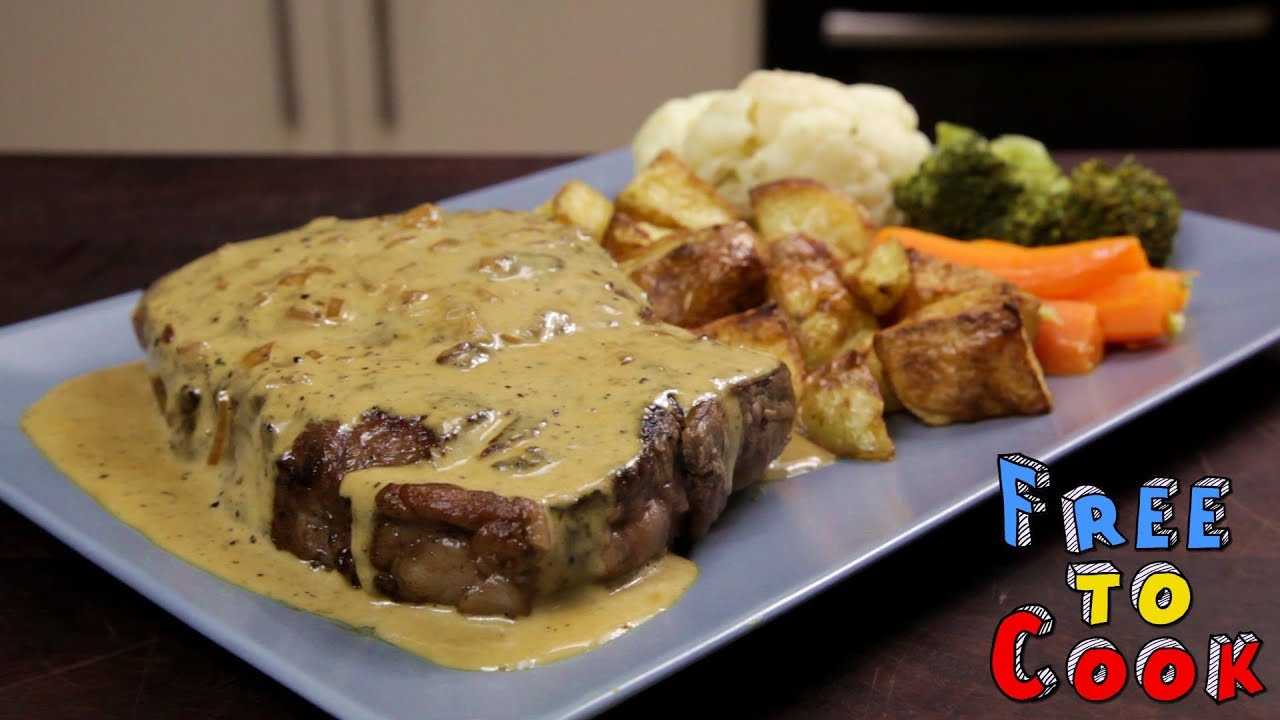 How To Cook Creamy Pepper Sauce For A Scotch Fillet Steak Sauce Au Poivre Youtube