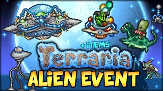 BADASS UFO MOUNT, ALIEN INVASION EVENT AND ALL THE NEW ITEMS (TERRARIA 1.3 - MARTIAN MADNESS)