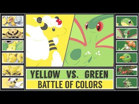 Color Battle: YELLOW vs. GREEN Pokémon (Pokémon Sun/Moon)