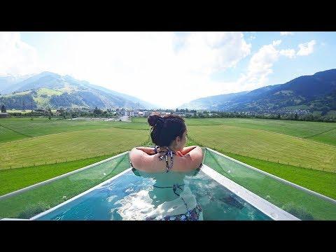 PISCINA de LUXO INFINITA NA MONTANHA | AUSTRIA | Travel and Share | Romulo e Mirella | T4. Ep. 216