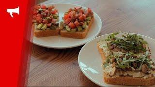 Рецепт бутербродов с авокадо и грибами