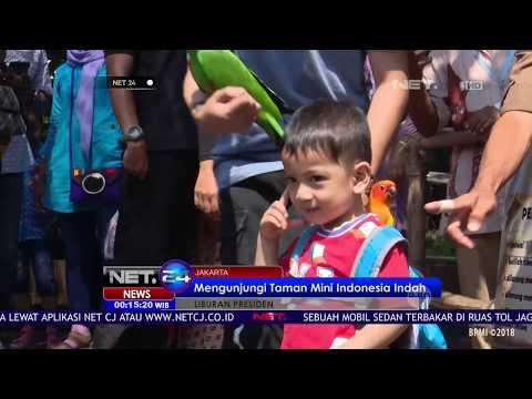 Presiden Jokowi Ajak Cucu Mengunjungi Taman Mini Indonesia Indah