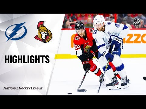 NHL Highlights   Lightning @ Senators 1/4/20