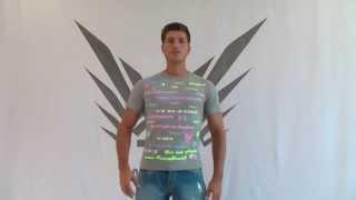 Geiles Neon Graues krocha jumpStyle FancyBeast Shirt FB176 im Fashion Clubwear look