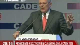 Presidente Kuczynski clausura la CADE 2016