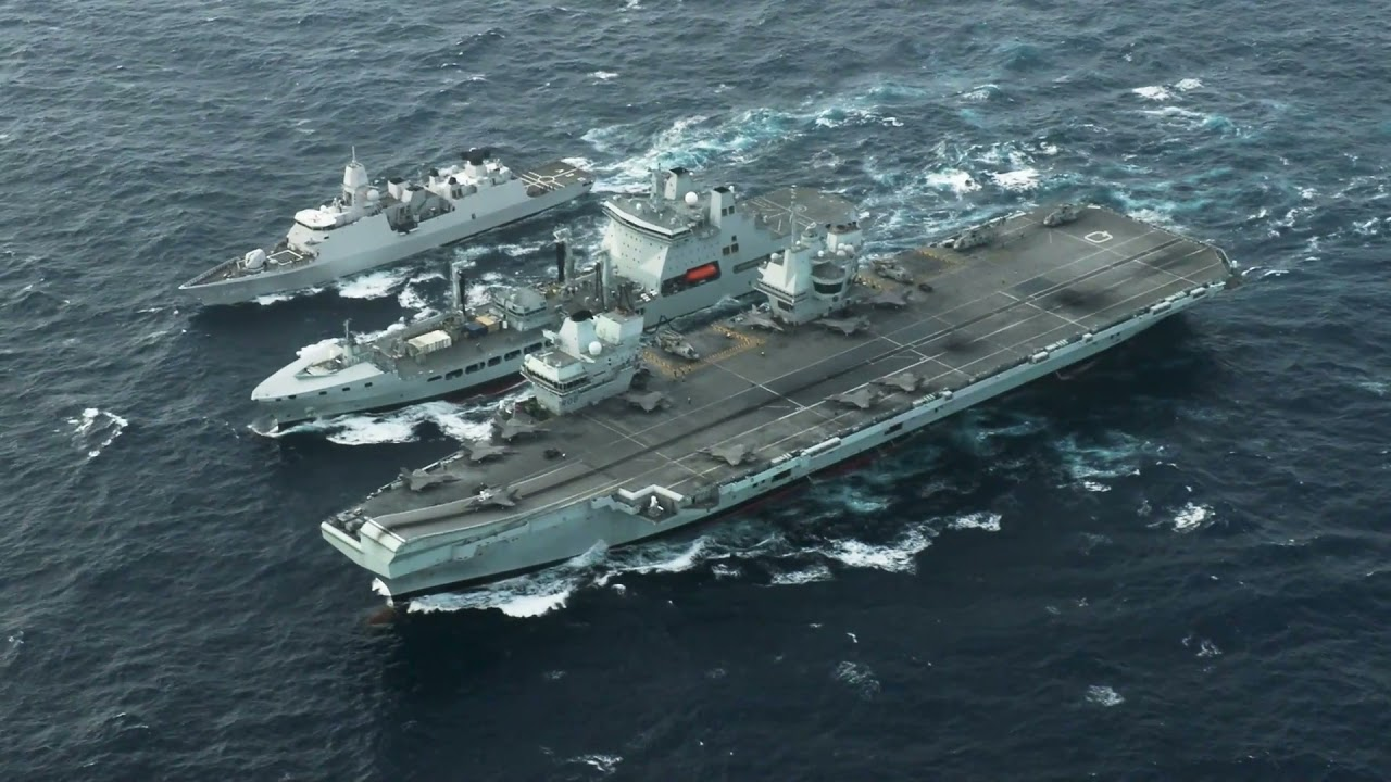 Royal Navy • HMS Queen Elizabeth Conducts Routine Operations in the South China Sea