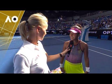 Heather Watson on court interview (1R) | Australian Open 2017