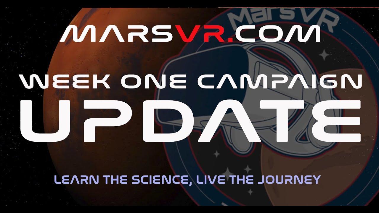 MarsVR is for everyone - week 1 update