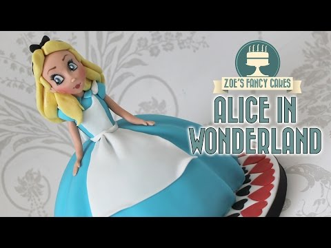 Alice in Wonderland doll cake: Alice Through the Looking Glass cakes