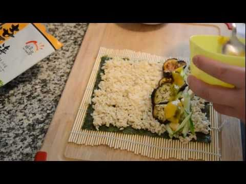 Here's a quick demo on how to make Sushi with organic brown rice
