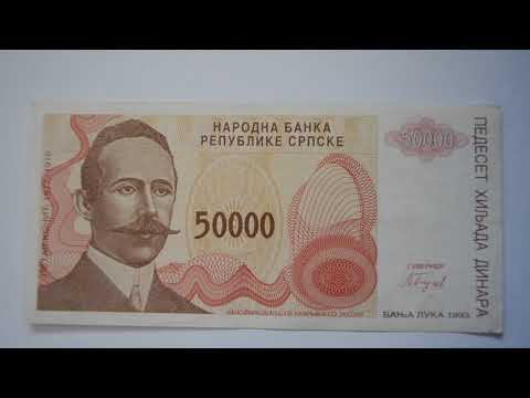 5000 Serbian Dinar Banknote - Five Thousand Serb Republic Dinar 1993 bill