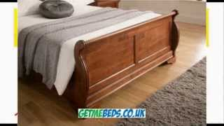Louie Dark Wooden Bed Frame