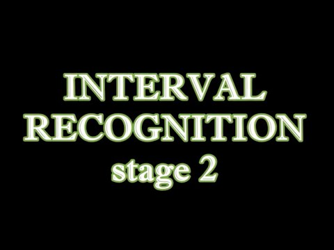 Interval recognition stage 2 - P1, M2, M3, P4, P5, P8