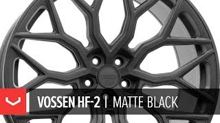 Vossen HF-2 Wheel | Matte Black | Hybrid Forged Series