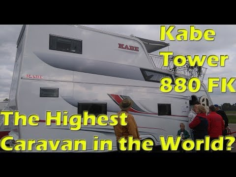 Highest Caravan: Kabe Tower 880, with two floors and a terrace / Tvåvåningsvagn