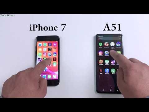 SAMSUNG A51 vs iPhone 7   Speed Test Comparison