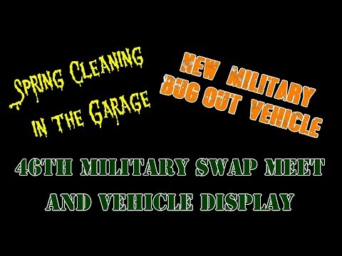 Cleaning Garage: New Bug - Out Vehicle: Military Swap Meet
