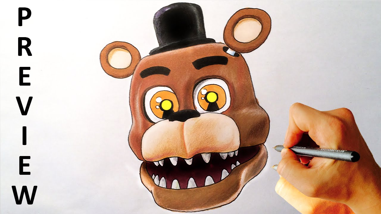 How to draw fnaf freddy steps - How To Draw Adventure Nightmare Freddy From Fnaf World Drawing Lesson Preview Youtube