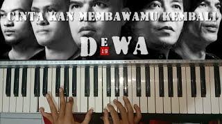 Dewa 19 - Cintakan membawamu kembali Cover Keyboard lyrics   By Nazar