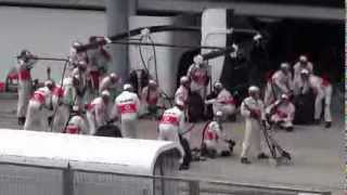 Lewis Hamilton in wrong pit stop...2013 Malaysian Grand Prix