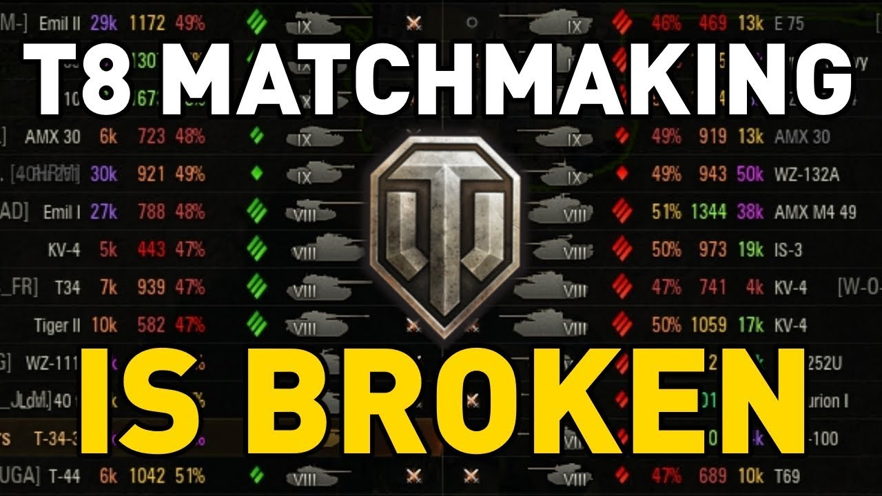 Why is world of tanks matchmaking so bad