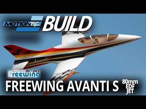 Freewing Avanti S Red 80mm EDF Ultimate Sport Jet - ARF PLUS on