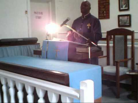 Bishop Mungro at Grays Chapel FBH (To Much Time On Your Hand).wmv