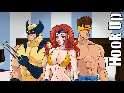 Cartoon Hook-Ups: Wolverine and Jean Grey