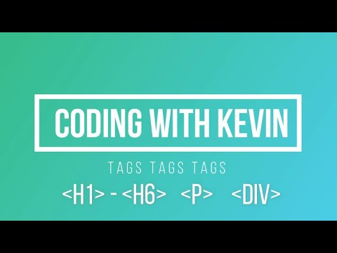 Brief intro to HTML - HTML tutorial for beginners - part 2 thumbnail