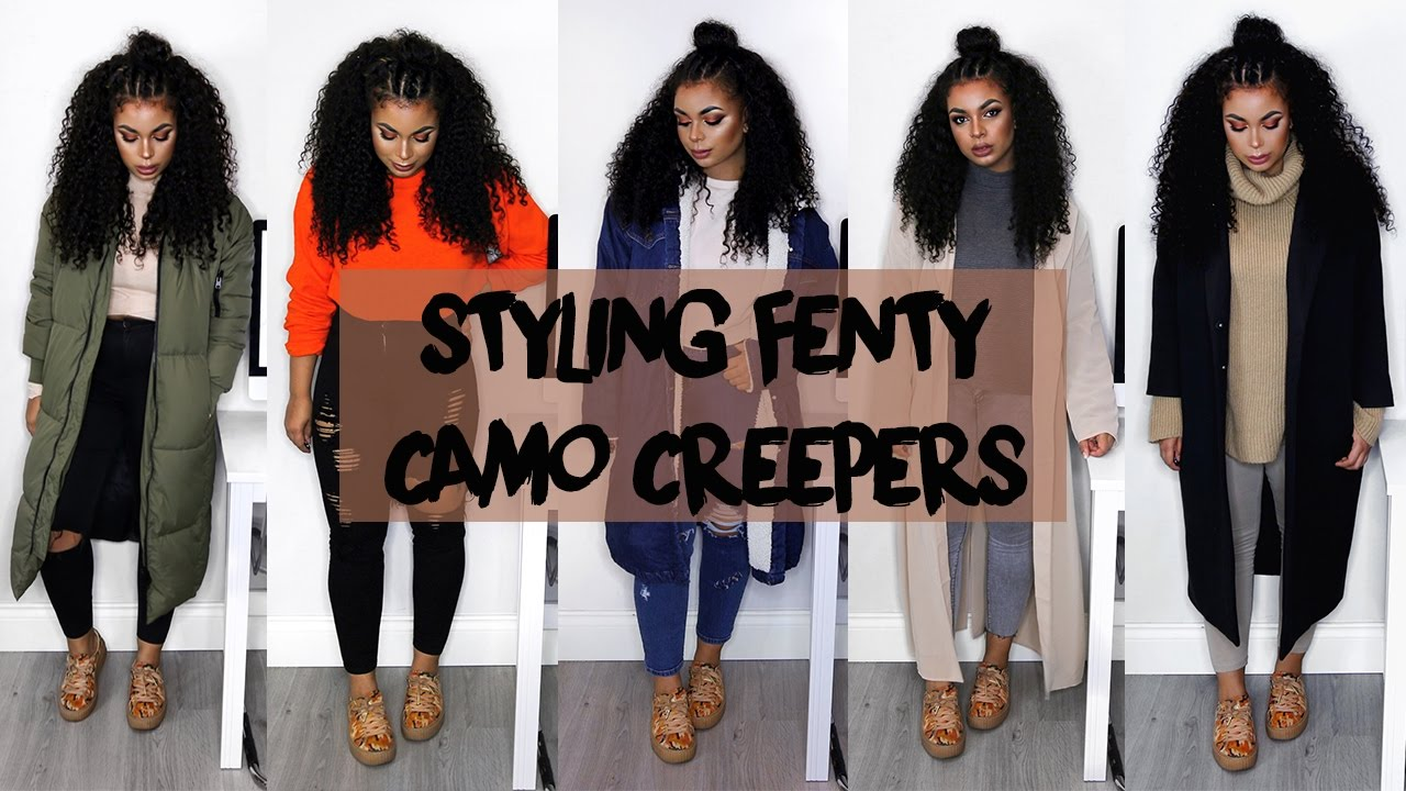 outlet store 124b3 9eb47 STYLING RIHANNA'S PUMA CAMO CREEPERS | vanessardnls