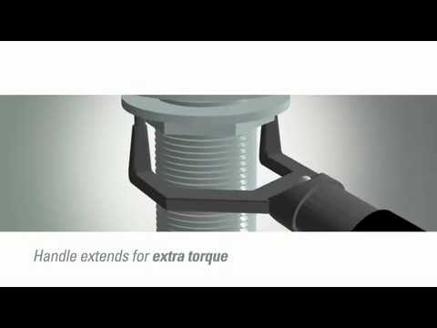 Decolav ION Low Clearance Drain Nut Wrench - YouTube