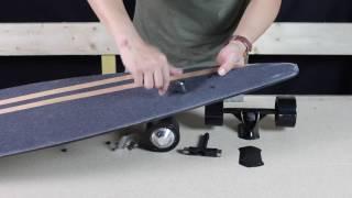 Installation kit électrique pour skateboard OZO - transformer un skate en skate électrique