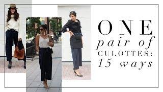 One pair of Culottes: 15 ways! | How to Style Basics | Minimalism | Slow Fashion
