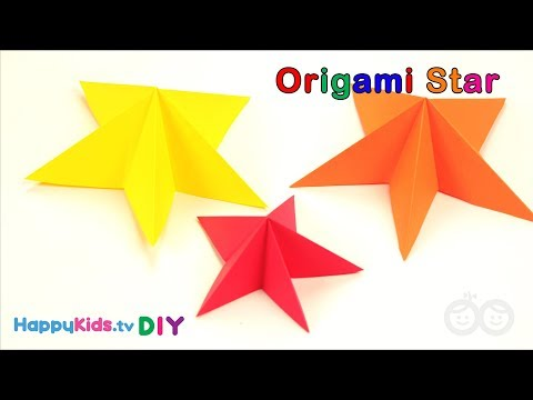 Origami Star | Paper Crafts | Kid's Crafts And Activities | Happykids DIY