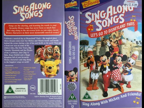 Sing Along Songs - Let's Go to Disneyland Paris [UK VHS] (1996)